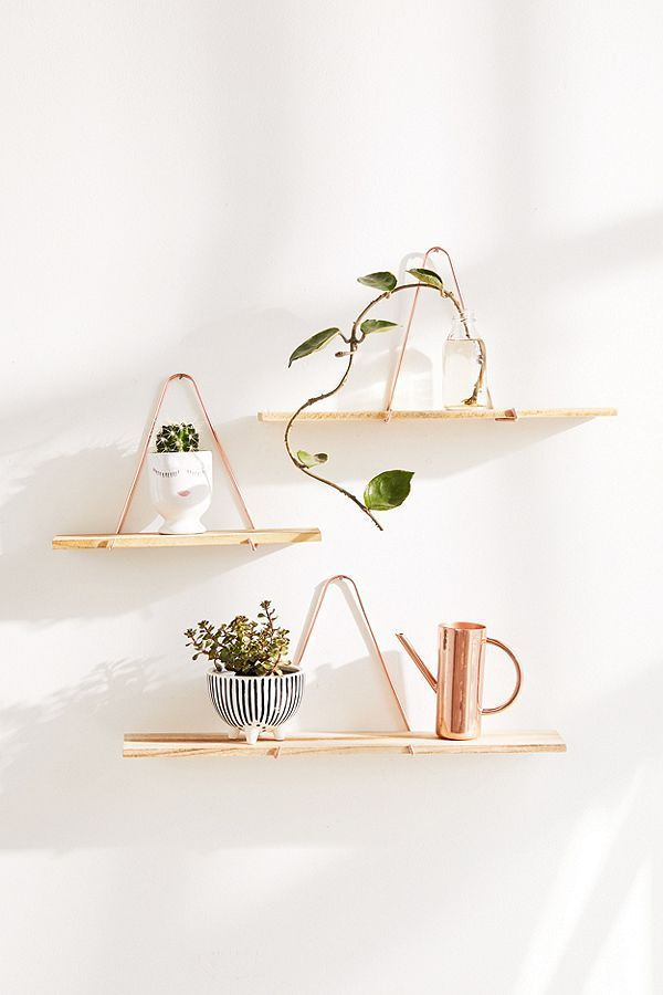 Carter Triangle Bracket Wall Shelf - Black L at Urban Outfitters