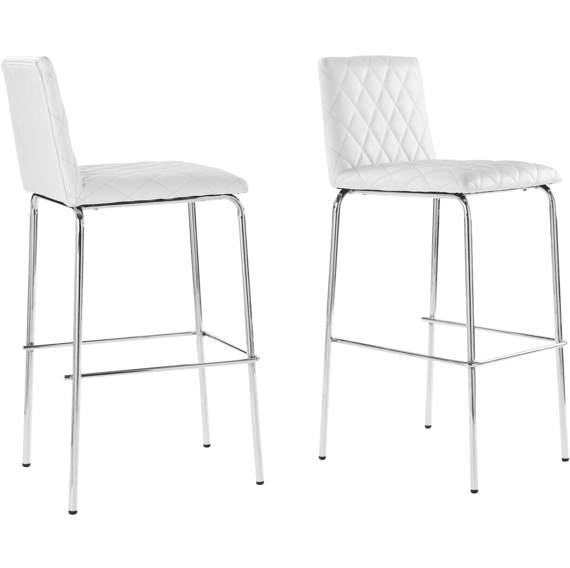Better Homes & Gardens Etta Quilted Bar Stools in White