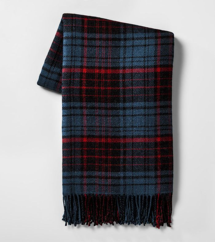 Hearth and Hand Blue/Red Plaid Throw Blanket
