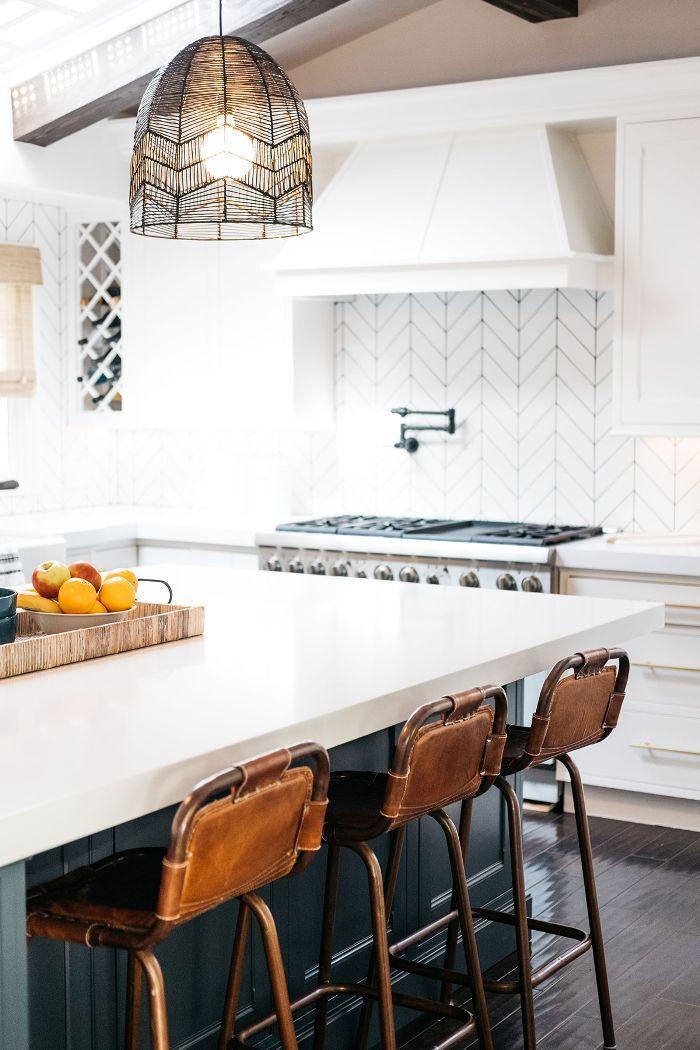 Trish and Billy Ray Cyrus—modern kitchen