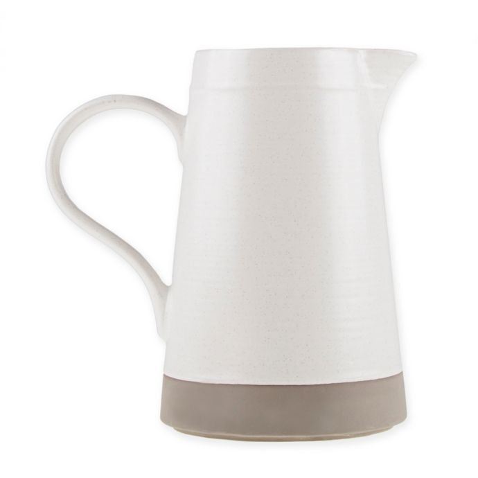 Bee & Willow Home Milbrook Pitcher in Coconut White