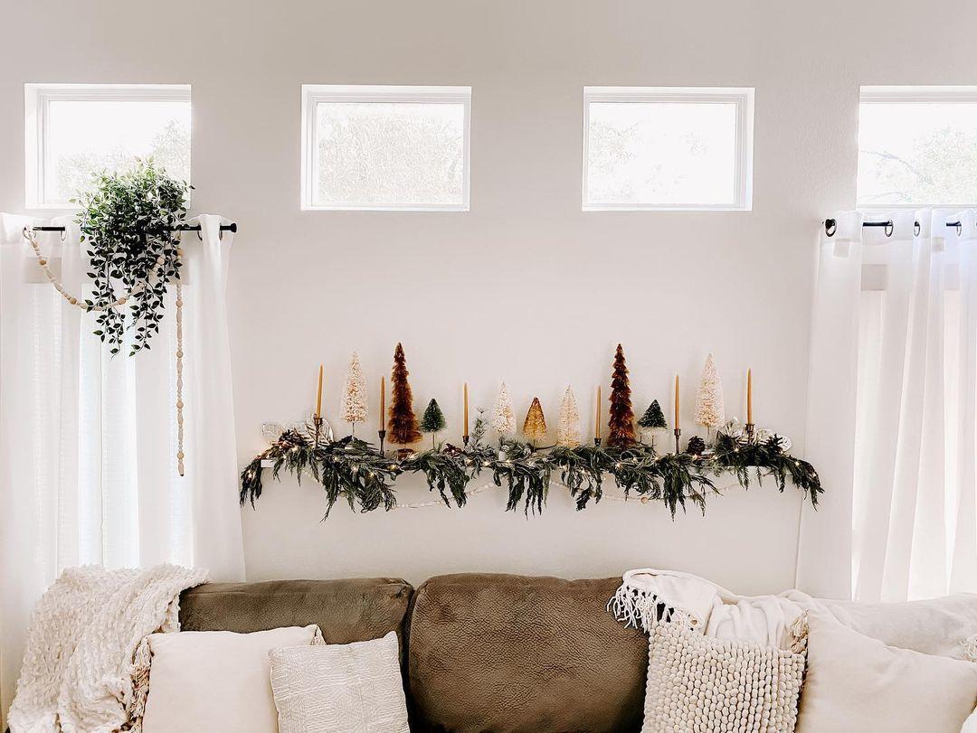 Neutral Christmas display