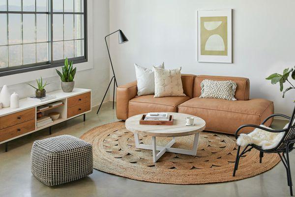 Brown Modular Sofa