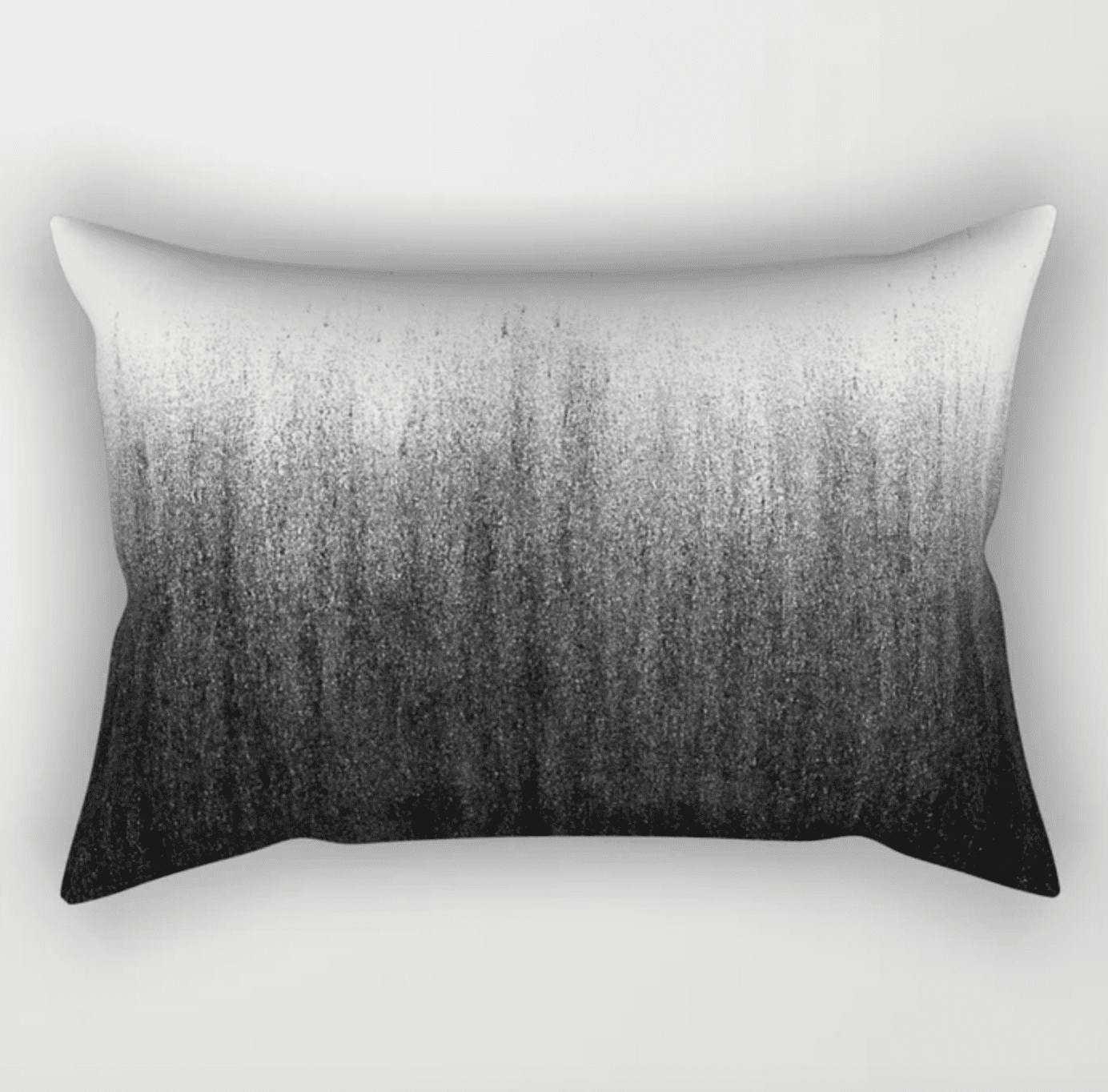 charcoal ombre pillow