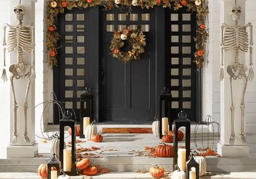 Halloween-themed front door