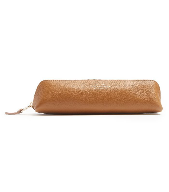 Burlington grained-leather pencil case