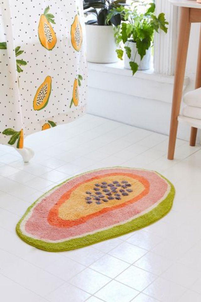 Urban Outfitters Papaya Bath Mat