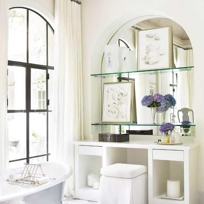 decoración de baño blanco