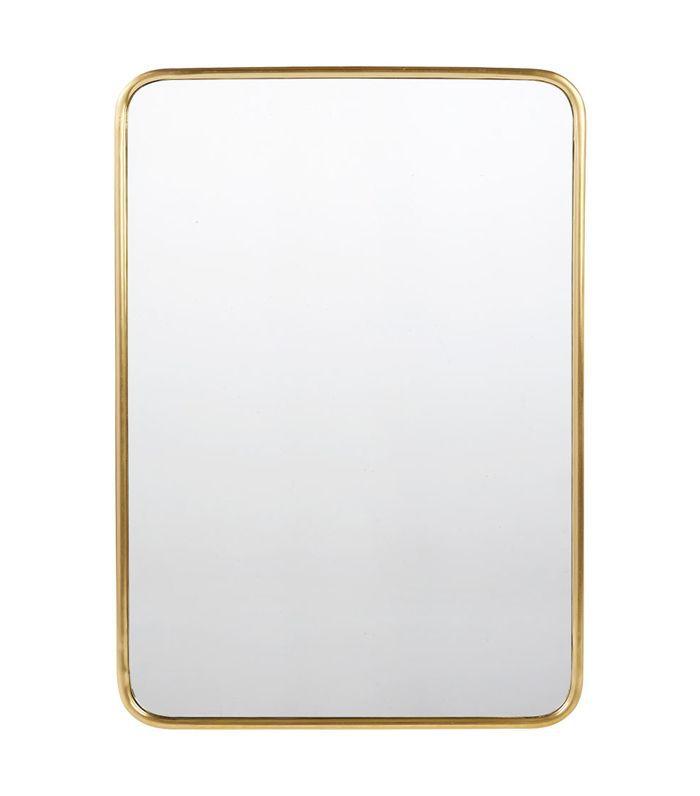 Rejuvenation Rounded Rectangle Metal Frame Mirror