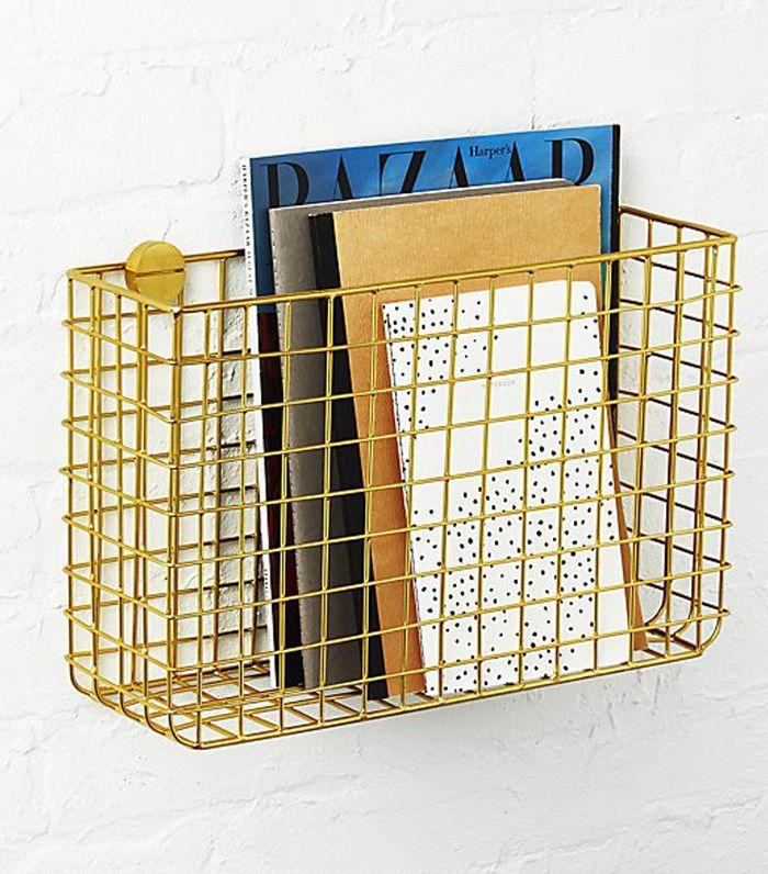 Grid Brass Magazine Rack