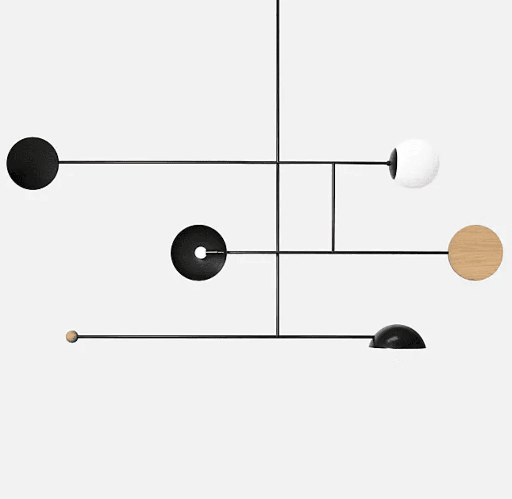 A bold lighting fixture, currently for sale at Lumens