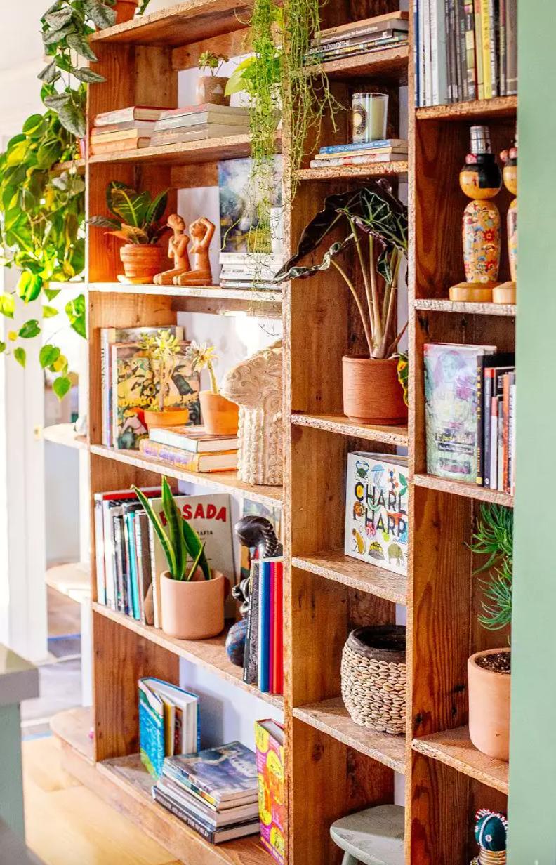 Bohemian-inspired book shelf
