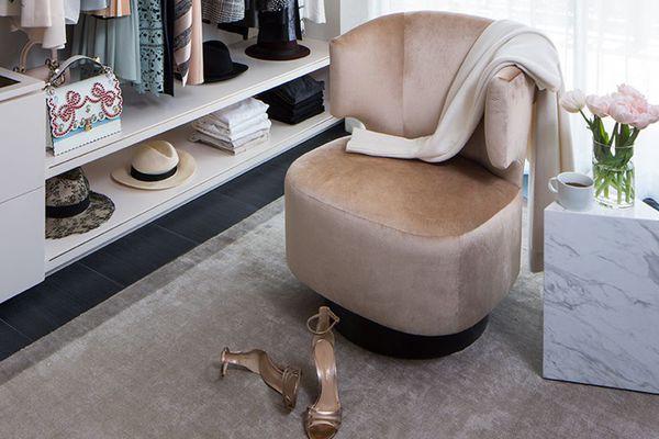 la closet design - lisa adams - shoe storage ideas