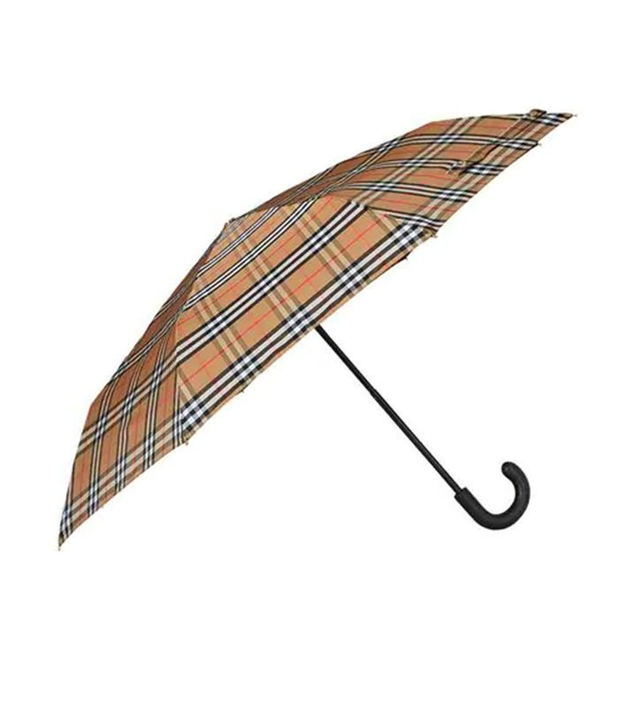 Vintage Check Folding Umbrella