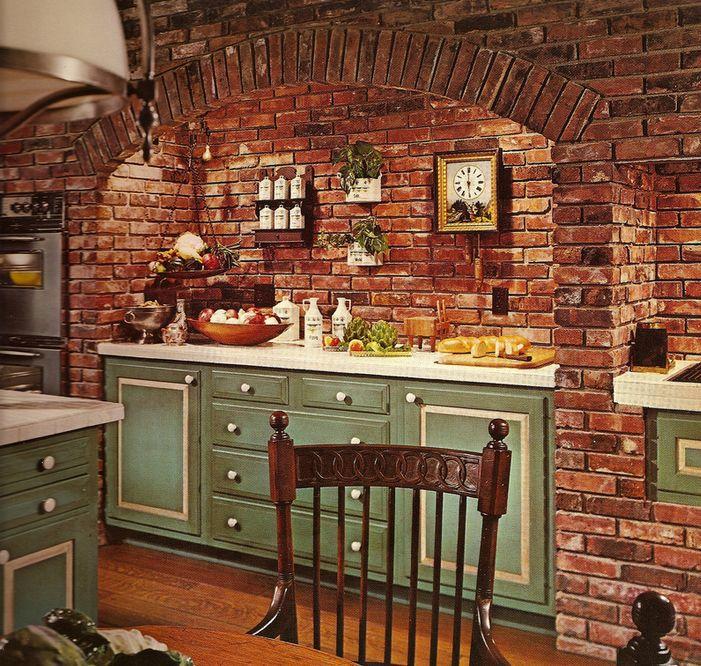 1970s Brick in Kitchen