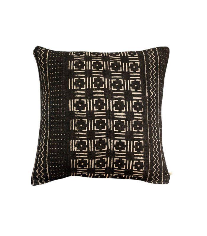 Damask & Dentelle Awa Vintage African Mud Cloth Pillow