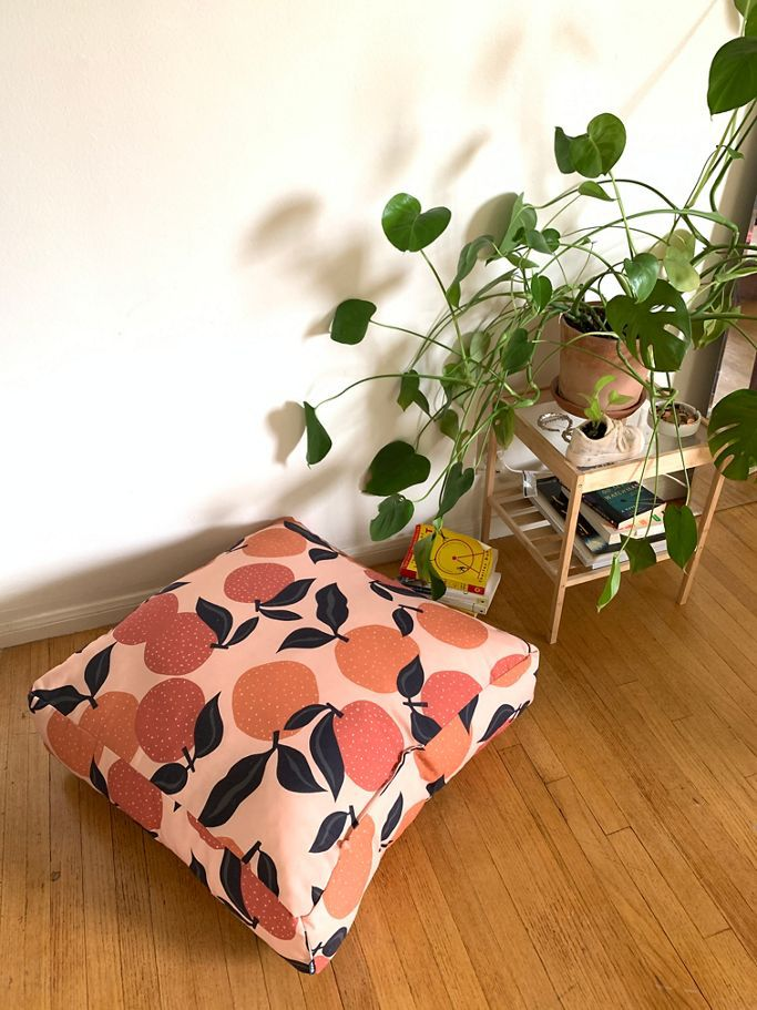 Urban Outfitters Alisa Galitsyna For Deny Seamless Citrus Pattern Outdoor Floor Cushion