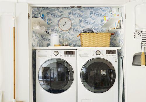tiny laundry room closet