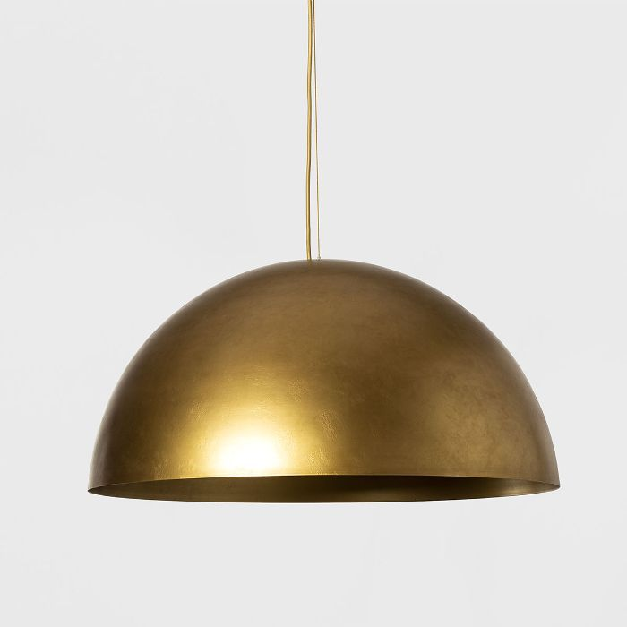 Project 62 and Leanne Ford Metal Dome Pendant Lamp (Includes Energy Efficient Light Bulb)