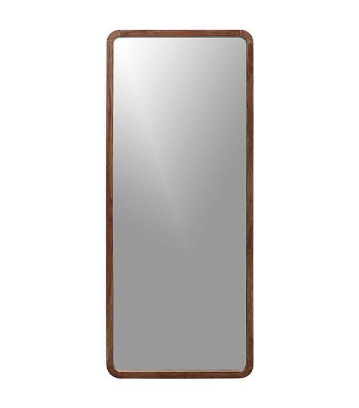 "espejo de piso de madera de acacia 33 ""x73"""