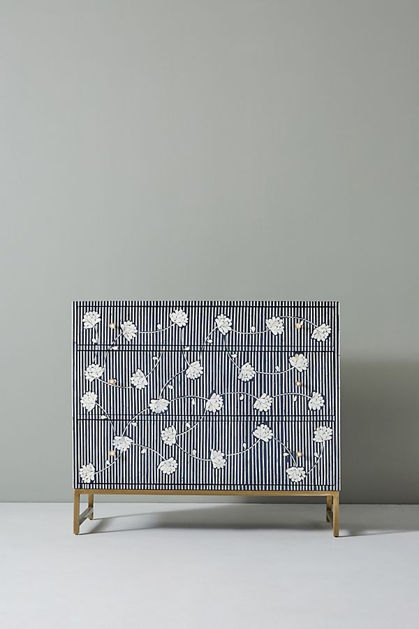 Anthropologie Ada Inlay Three-Drawer Dresser Urban Outfitters Home