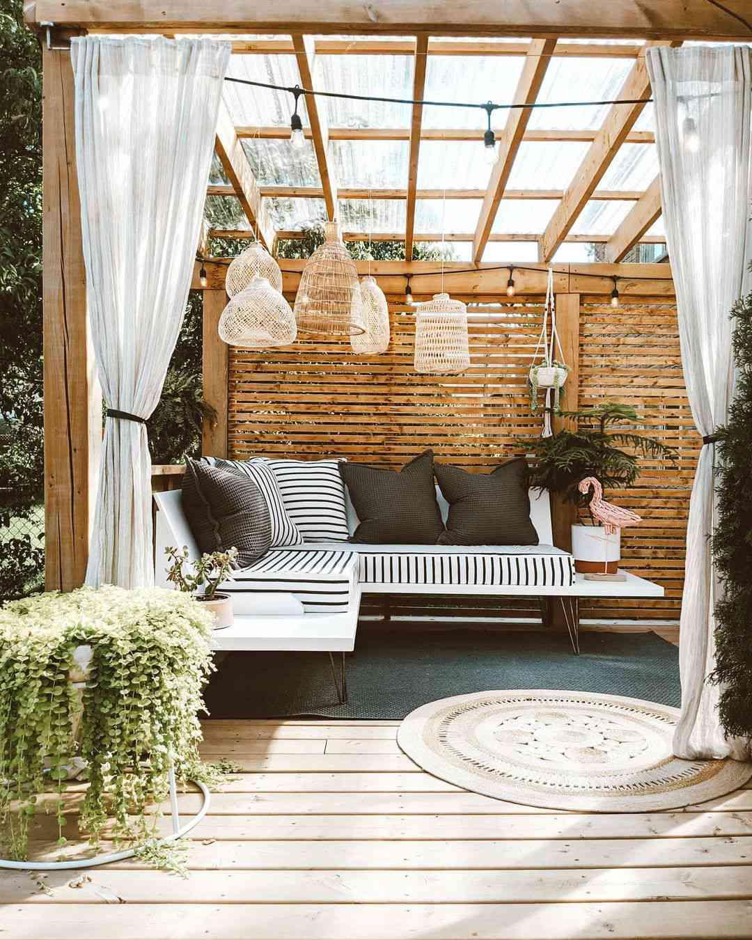 outdoor party ideas pergola