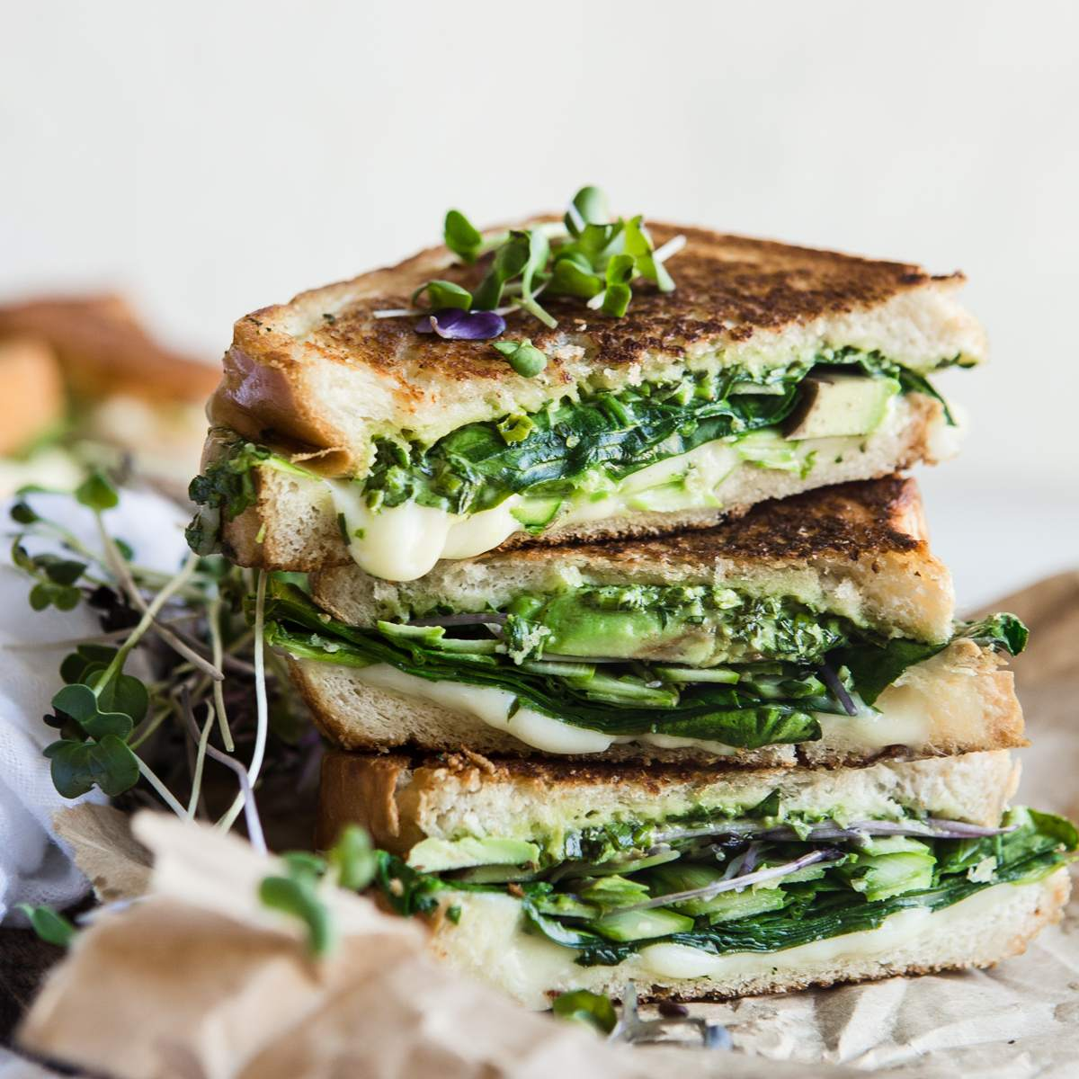 Green Goddess Grilled Cheese Sandwich— Easy Asparagus Recipes