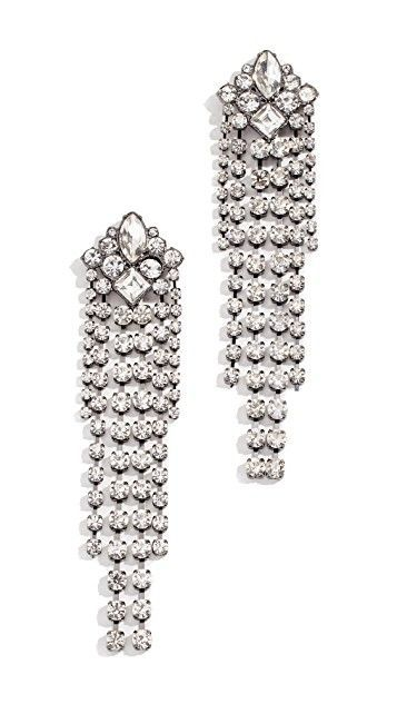 Rebecca Minkoff Gemma Crystal Fringe Earrings