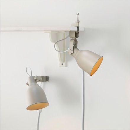 IKEA HEKTAR Lámpara de pared / abrazadera con bombilla LED, beige