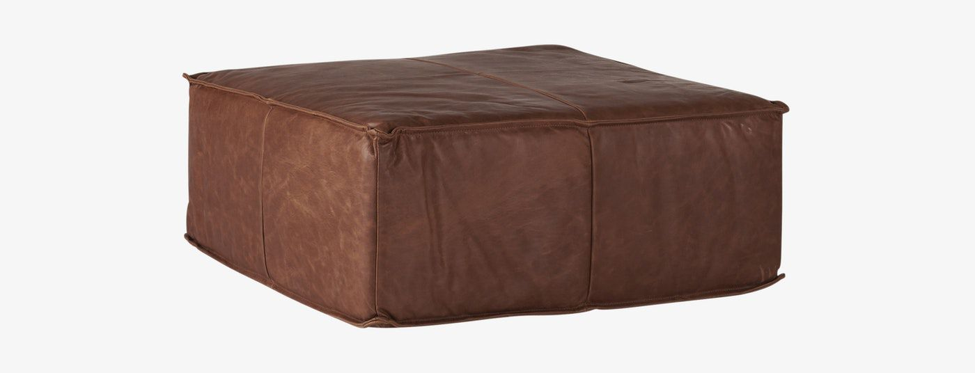 View Photos +25 +3 Shown In Academy Cuero Leather Lyle Leather Ottoman