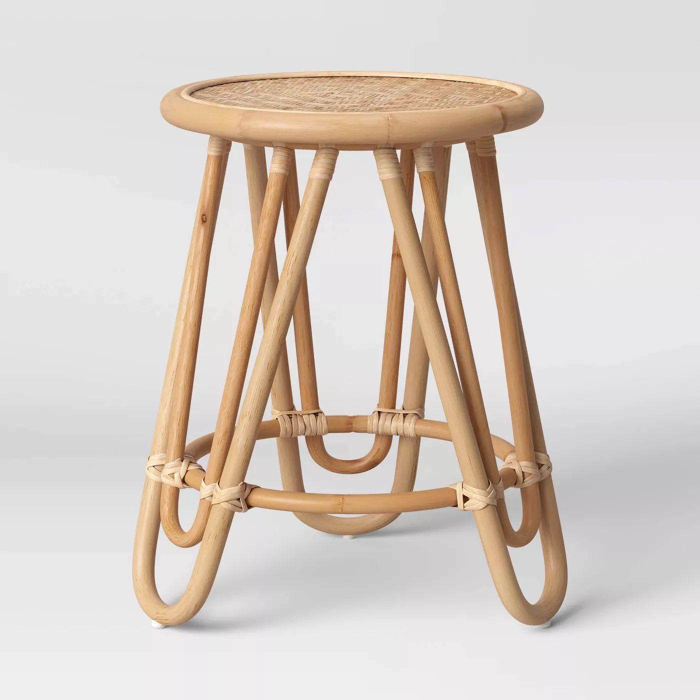 Tenella Round Rattan End Table