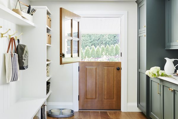 mudroom with built-in storage