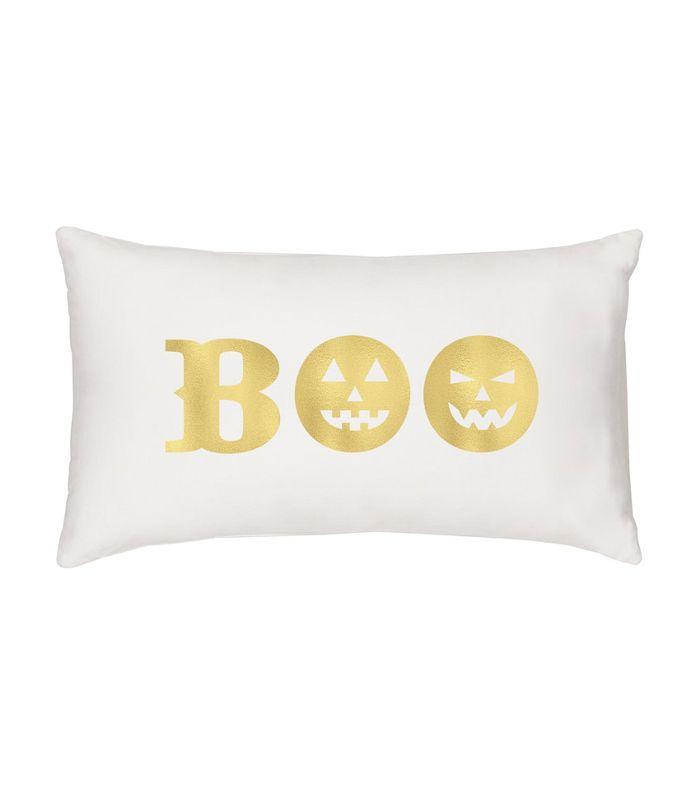 Cathy's Concepts Gold Boo Lumbar Accent Pillow Cheap Halloween Decor