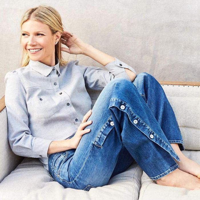 Gwyneth Paltrow in her former NYC apartment