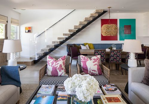 Interior living room of island home.