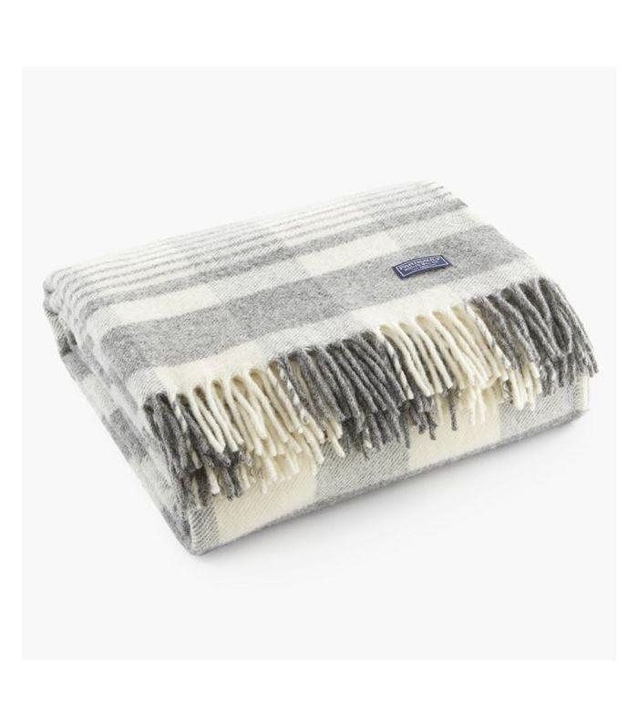 Fairbault Wool Co. Plaid Wool Throw