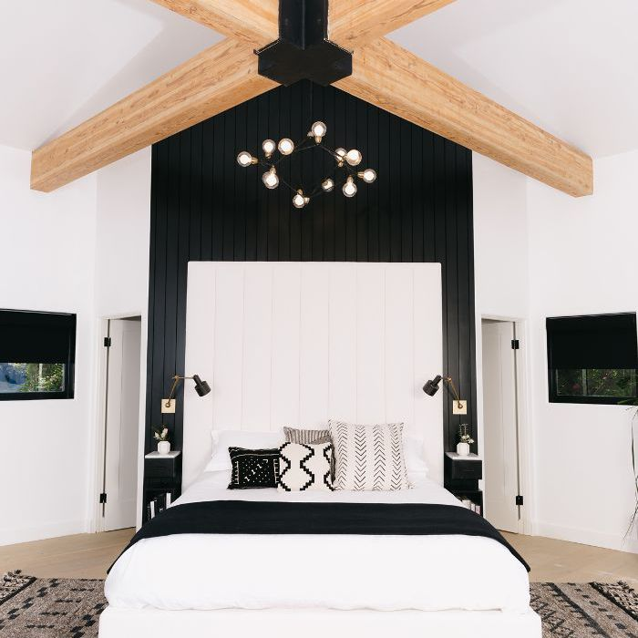 Step Inside a Modern Black-and-White Master Bedroom
