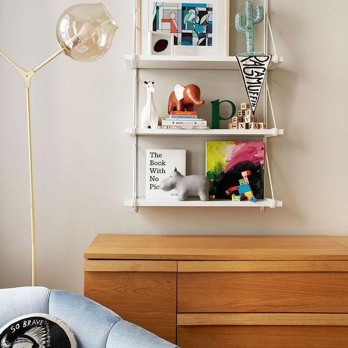 modern kid's toys on a shelf