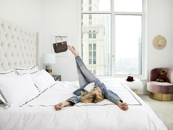 Ashley Benson in her New York City Apartment bedroom
