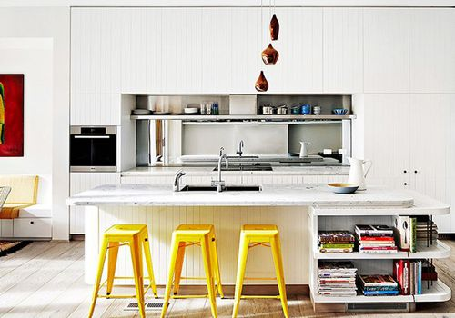 Kitchen with pops of color