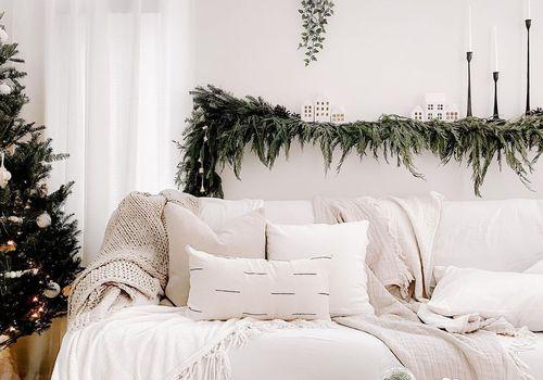 White Christmas decor.