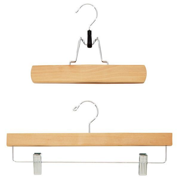The Container Store Natural Wooden Trouser Clamp and Skirt Hanger—Minimalist Closets