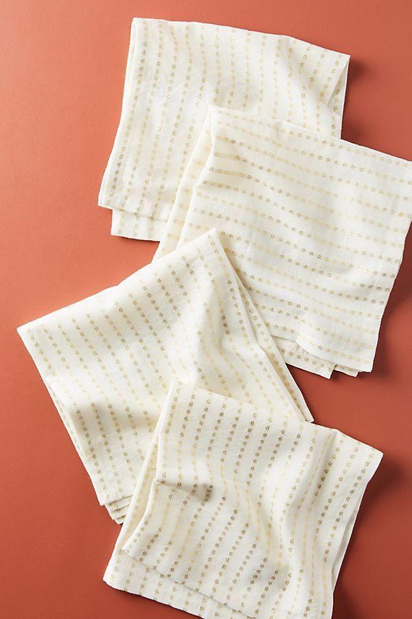 Shimmer Stripe Napkins, Set of 4