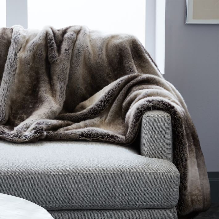 Faux Fur Ombre Throw West Elm