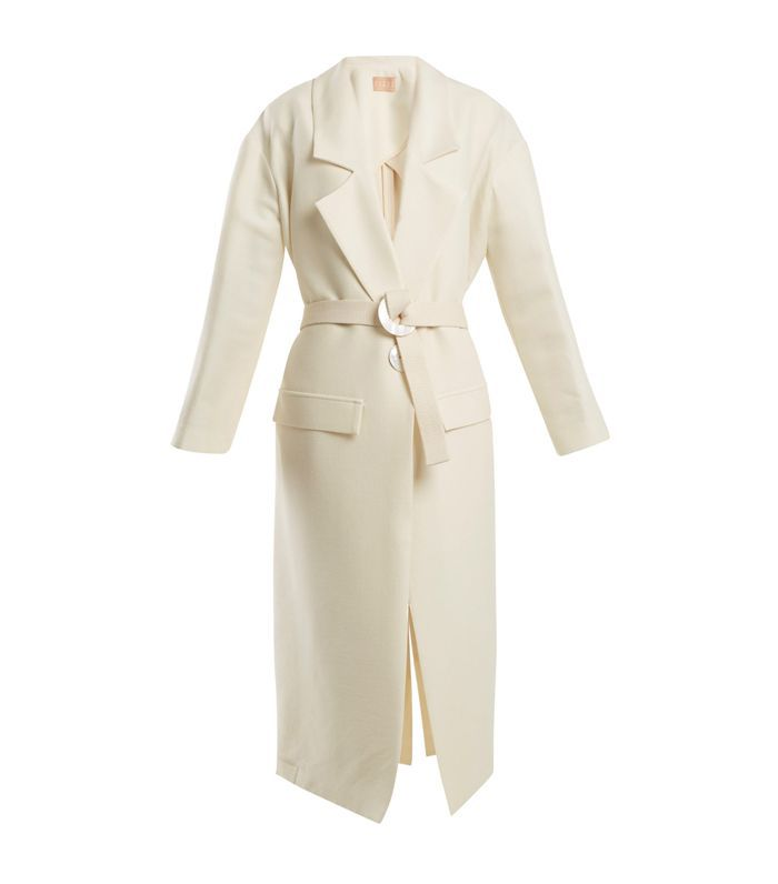 Elle wool and silk-blend coat