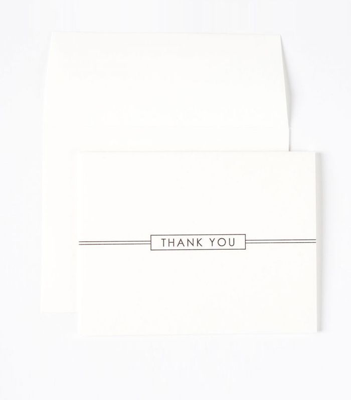 Papyrus Simple Rectangle Thank You Notes Set Of 8 16