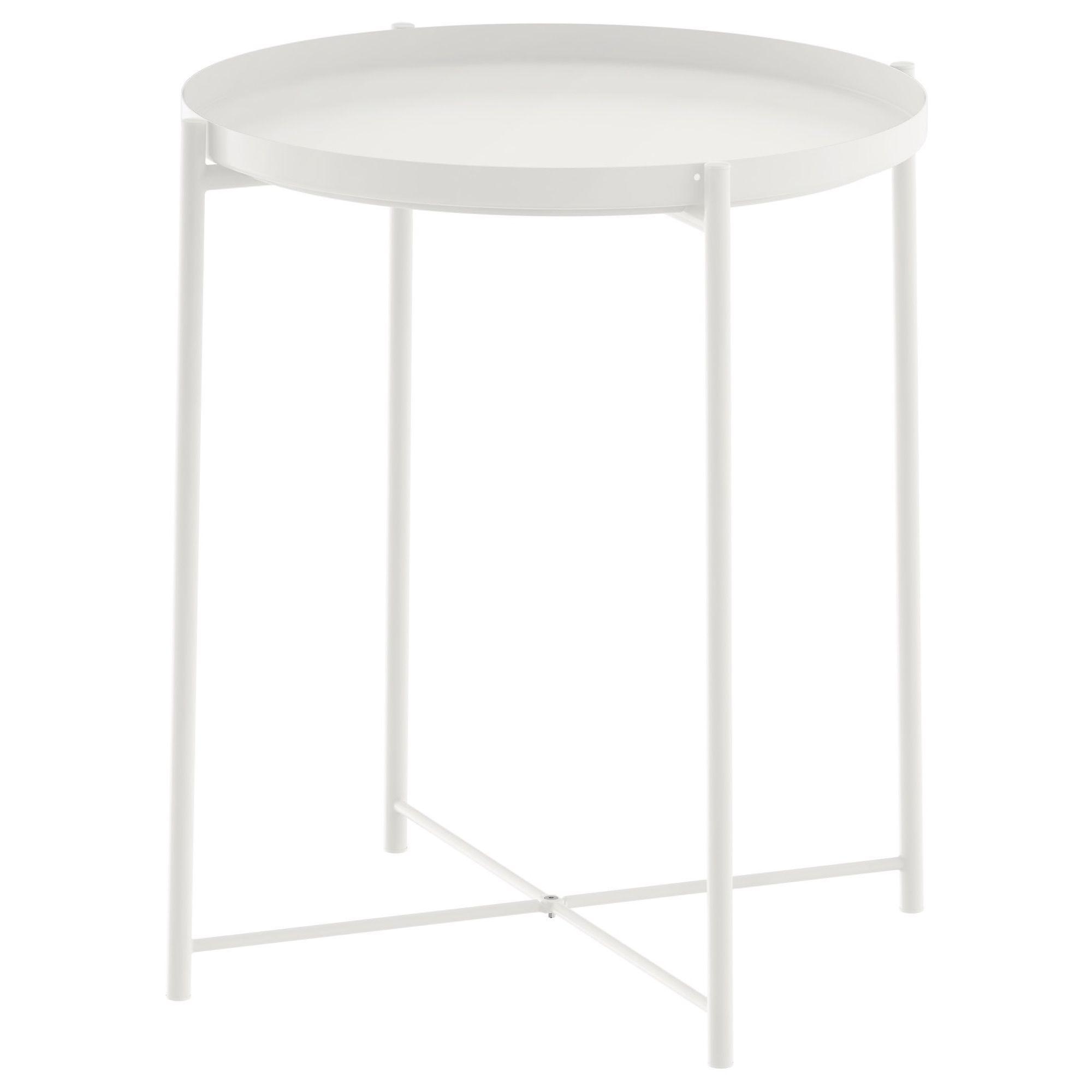 Gladom White Tray Table
