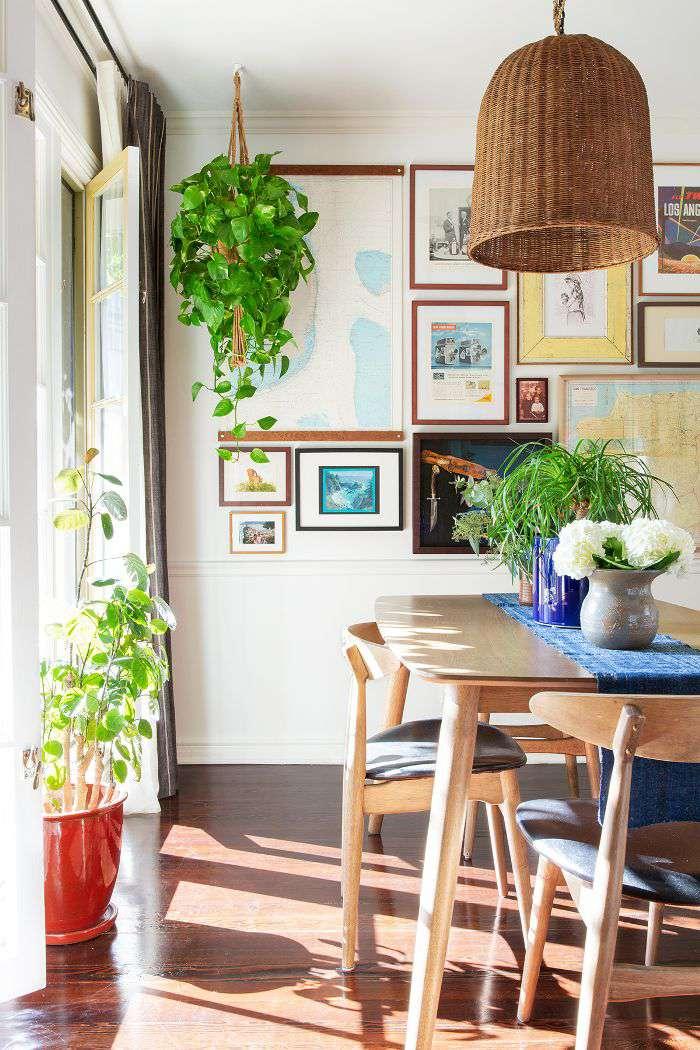 Plant-filled dinning room