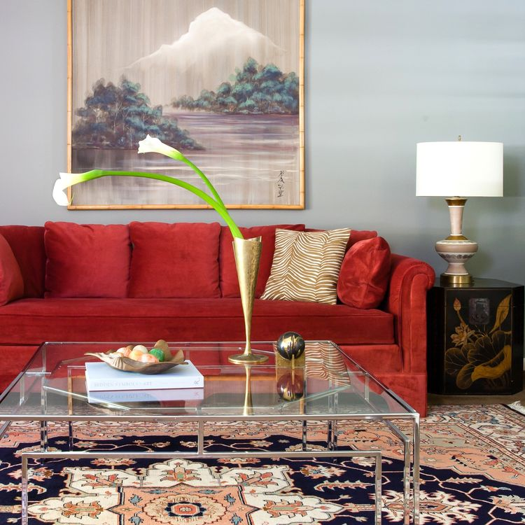 The Best Colorful Sofa Ideas, Red Couch Living Room Decor