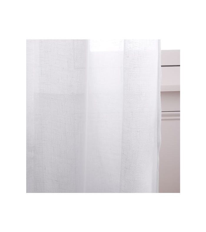 West Elm Sheer Belgian Flax Linen Curtain